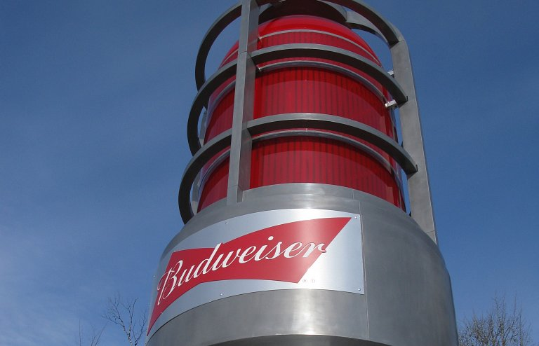 NHL Budweiser goal light on its way to the World Pond Hockey championships in Plaster Rock, Canada