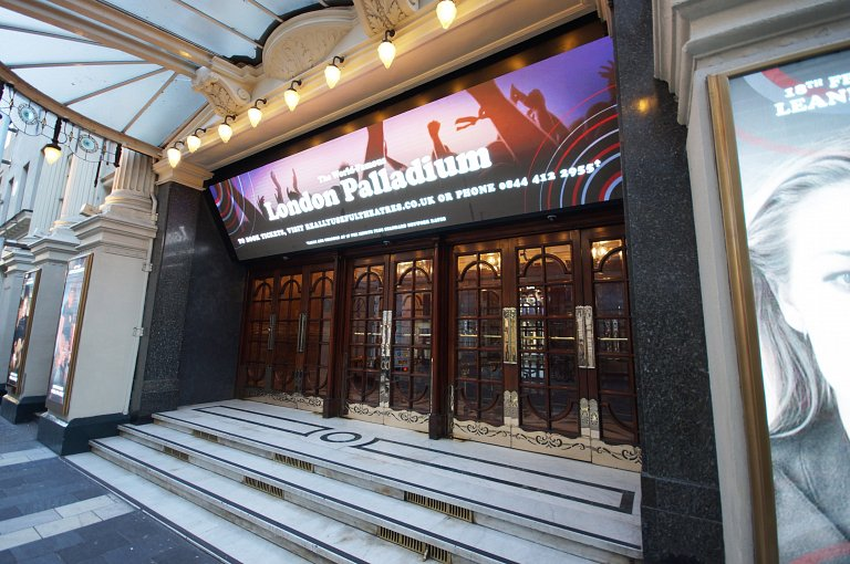 The LED video display at the London Palladium