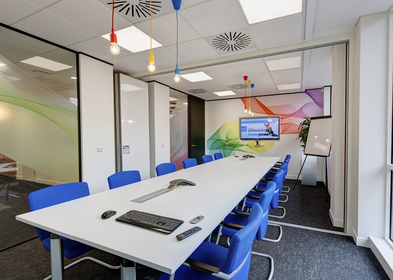 FESPA meeting room with digital wall covering