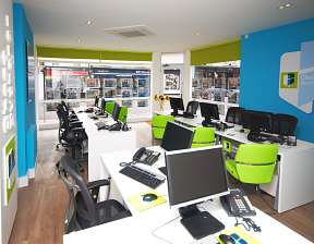 Office interior for estate agency